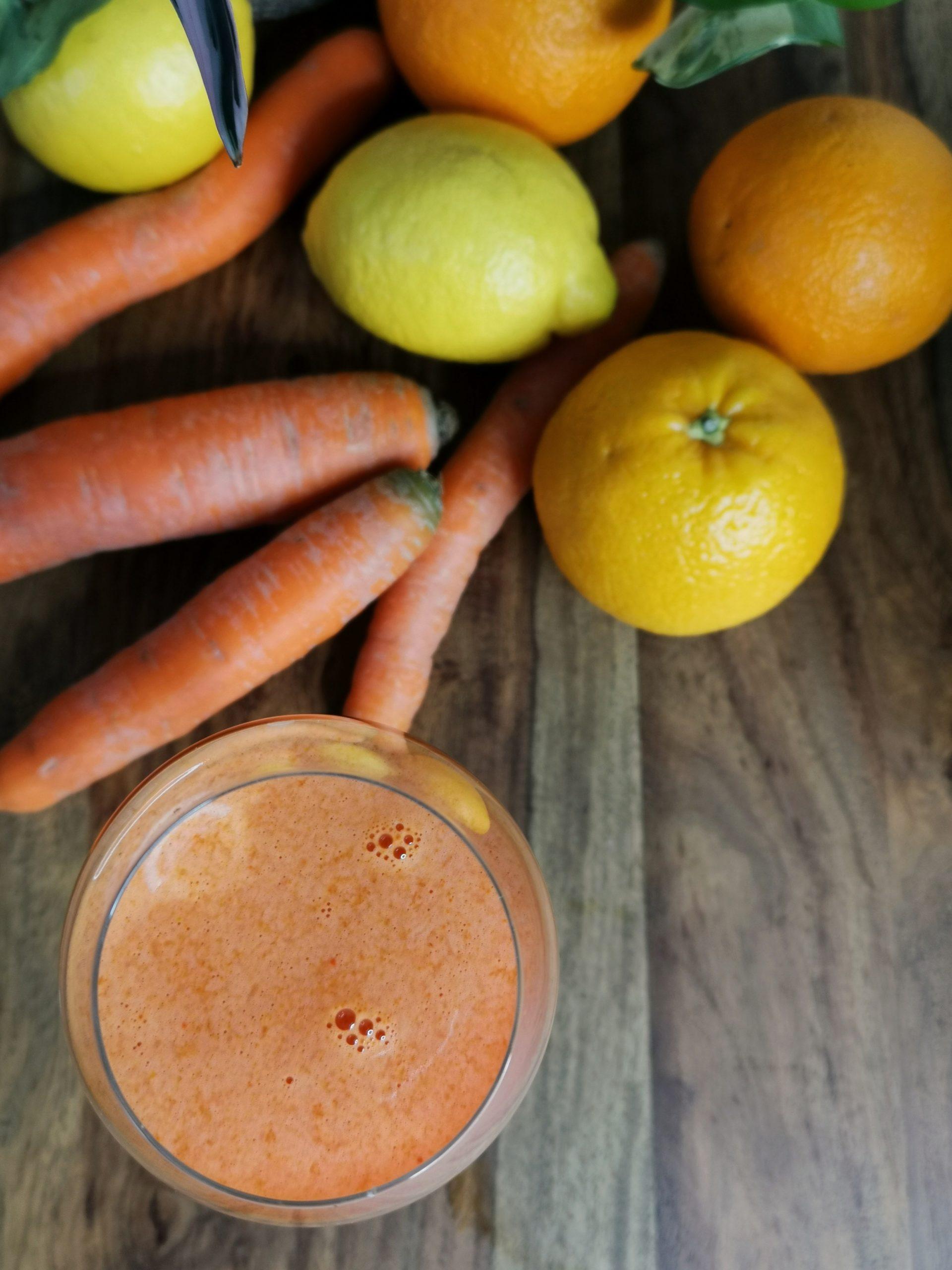 Jus ACE: carotte, orange et citron.